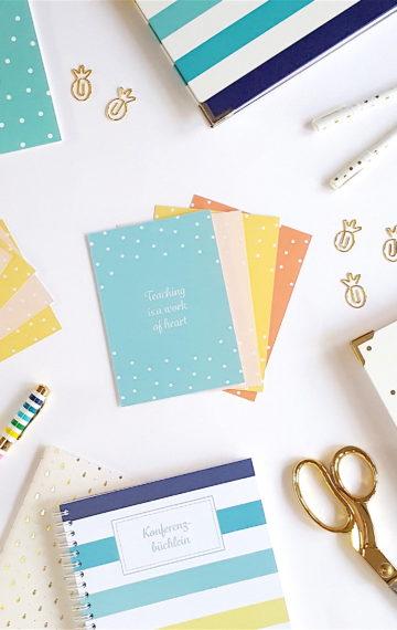 Lehrergeschenke, Lehrerleben, Lehrerpost, Happy Teaching, Happy Teaching Postkartenset